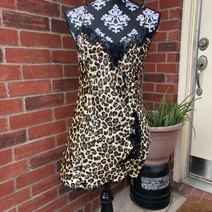 Frederick's of Hollywood Leopard Print Chemise